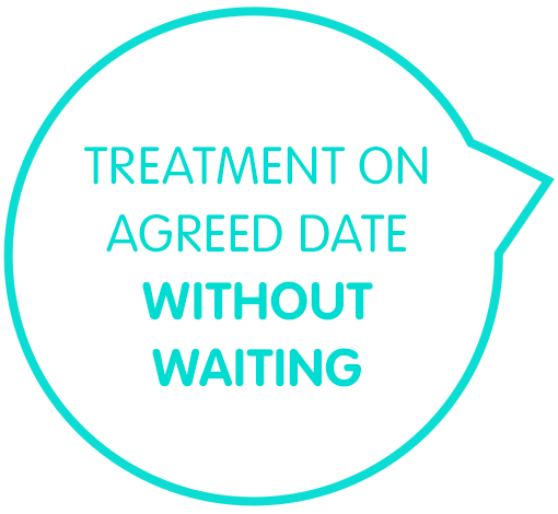 Treatment on agreed date without waiting